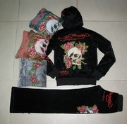 NEW!! Ed hardy ladies trackisuirts, dress, skirts, jumpsuits