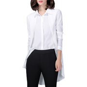 Women Chiffon Blouse Long Sleeve Elegant Office Shirt Tops